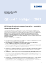 Zwischenbericht 2. Quartal und 1. Halbjahr 2021