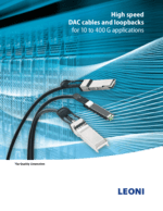 Enterprise data solutions – SFP+ cable systems: LEONI in Americas