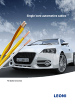 Single-core automotive cables