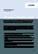 Zwischenbericht 2. Quartal und 1. Halbjahr 2020