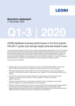 Quarterly statement Q1-3 2020