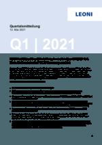 Quartalsmitteilung Q1 2021