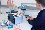 Measuring stations for polymer and fiber optic cables