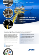 Applications for SeaLine® cables in shipbuilding