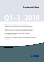 Quartalsmitteilung Q1–3 2018