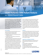 LEONI performs cable failure analysis on hybrid round cable