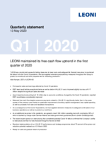 Quarterly statement Q1 2020