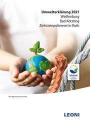 Umwelterklärung der LEONI Draht GmbH - Titelbild