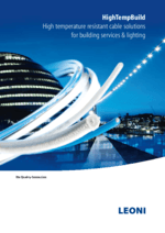 HighTempBuild  High temperature resistant cable solutions for building services & lighting