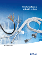 Miniaturised cables and cable systems