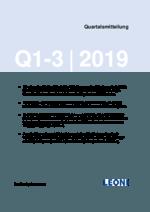 Quartalsmitteilung Q1-3 2019