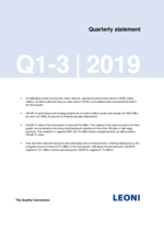 Quarterly statement Q1-3 2019
