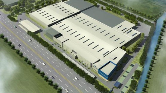 Aerial view of the new wiring systems plant in Tieling, China
