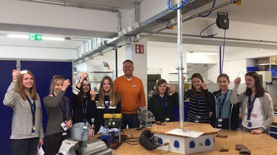 Girls'Day 2017 in der Forschung und Entwicklung in Kitzingen