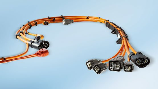 High-voltage cable harness