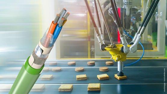 Промышленный Ethernet-кабель для пищевой промышленности с двойной оболочкой