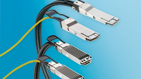 LEONI bietet active optical cables und active copper cables für 400 G