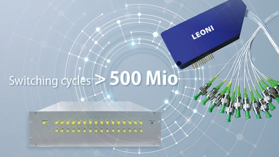 The fiber optic switches manage over 500 million switching cycles