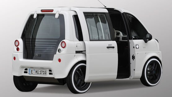 Electric car mia with wiring systems from Leoni