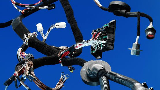 Wiring harness close up