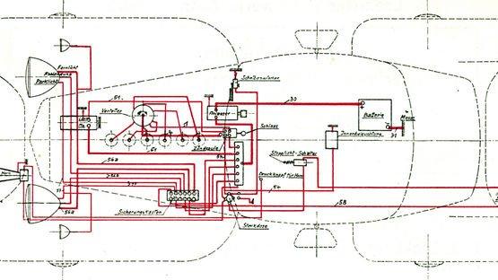Erste Fahrzeugkabelsätze in den 50er Jahren