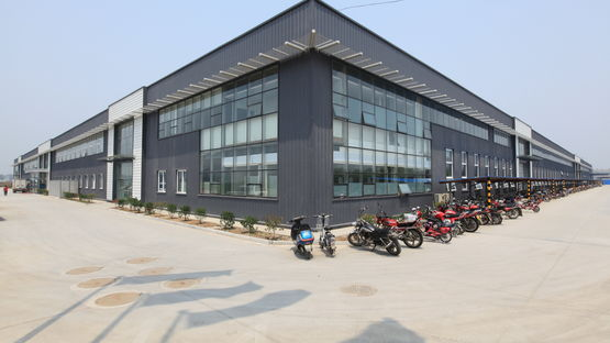Outside view on the new wiring systems plant in Jining