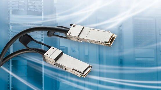 QSFP Kabelsystem übertragt 200 G über Kupfer