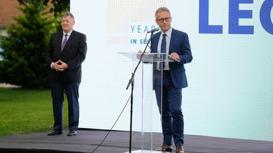 Executive Vice President WSD Helmut Zehnder at the 10 years LEONI Serbia celebration