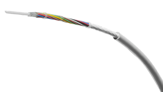 Silicone cables with improved stick-slip behaviour