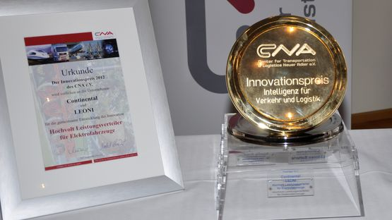 Certificate of the CNA innovation prize