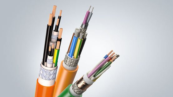 Hybrid-, feedback and power cables for drive technology