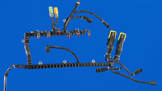 Preformed cable harness