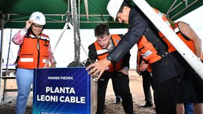Leoni building new plant section for EC charging cables and high-voltage cables – foundation-laying ceremony for the new EMOMex building in Cuauhtémoc, Chihuahua