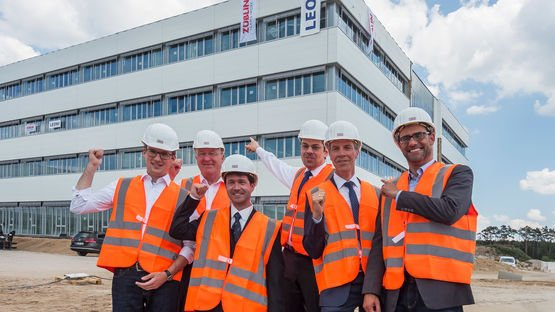 Topping-out ceremony of the Factory of the Future