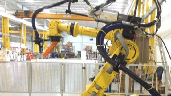 Robot dresspack system for dispensing applications