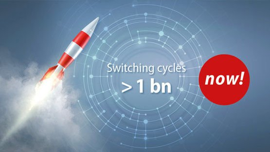 Fiber optical switches now withstanding 1 billion cycles