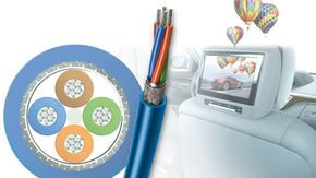 Star quad data cables for transfer rates up to 3 Gbit/s